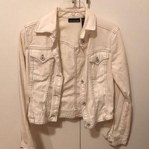 DKNY white jean jacket size small